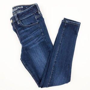 American Eagle Dark Wash Skinny Hi-Rise Jeans 4R